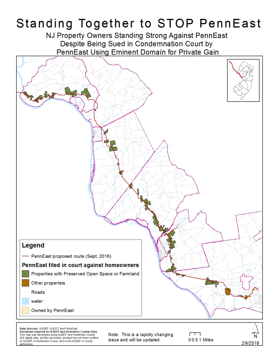 Map_StandingStrongAgainstPennEast_Feb92018